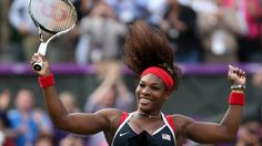 Serena Williams of the USA thrashed Russia's Maria Sharapova 6-0 6-1 to win the women's singles gold medal at London 2012.