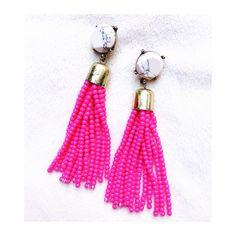 Love these beaded tassel earrings!
