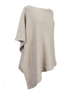 100% Cashmere Cable Beige Taupe Poncho Taupe, Beige, Cashmere Poncho, Ash Beige