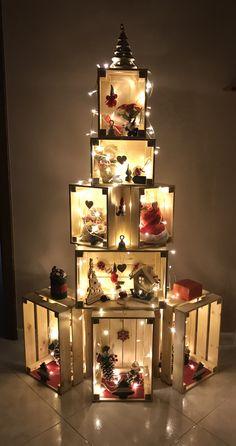 Creative Christmas Trees, Diy Christmas Decorations Easy, Christmas Tree Design, Christmas Table Settings, Rustic Christmas, Simple Christmas, Christmas Home, Christmas Holidays, Christmas Crafts