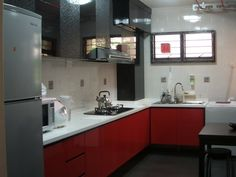 Black White Red Kitchen Ideas Google Search Acrylic Cabinets