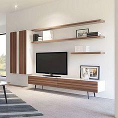 36 Amazing TV Wall Design Ideas For Living Room Decor ~ kliksaya.me room Ideas Tv Unit Decor, Tv Wall Decor, Modern Tv Wall Units, Tv Unit Furniture, Living Room Tv Unit Designs, Tv Wall Design, Living Room Decor, Interior Design, Entertainment Units