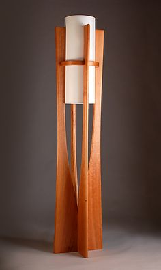 Apollo by Kyle Dallman: Wood Floor Lamp available at www.artfulhome.com