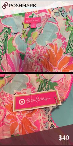 NWT Lilly for Target Swim cover up or tunic NWT nosie posie lilly for target swim cover up. Lilly Pulitzer Swim Coverups