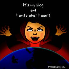 I'm a grown ass blogger! I write what I want!
