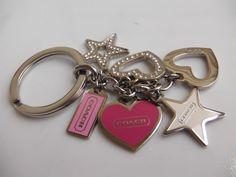 COACH  Key Chain Hearts Stars