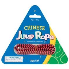 We used to like playing Chinese Jump Rope