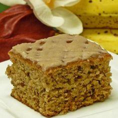 Banana Cake with Cinnamon Glaze Recipe: Banana Cake Recipe