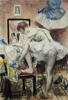View Tying her shoes by Dame Laura Knight on artnet. Browse upcoming and past auction lots by Dame Laura Knight. English Artists, French Artists, British Artists, Knight Art, Artist Sketchbook, Vintage Artwork, Figure Painting, Oeuvre D'art, Art Music