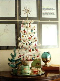 vintage style Christmas and a scale that's perfect with the more reasonable decorating efforts this year