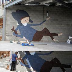 Interview – Ghostpatrol – The Design Files Best Graffiti, Street Art Graffiti, Installation Street Art, Urbane Kunst, Graffiti Artwork, The Design Files, Art Programs, Art Club, Street Artists
