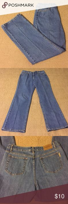 "Coldwater Creek Jeans Excellent condition Coldwater Creek Blue Jeans.  30.5"" inseam.  2 front pockets, 2 back pockets.  1.5"" belt loops.  9"" leg opening.  Button and zipper close.  98% cotton, 2% spandex.  No imperfections. Coldwater Creek Jeans Straight Leg"