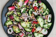 Radish, cucumber & red onion salad. Photographed by Liz & Max Haarala Hamilton