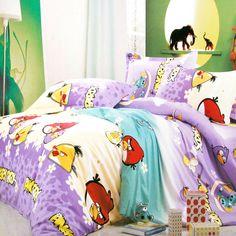 Angry Birds Purple Angry Birds Bedding Set