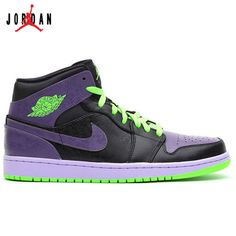 detailed look 9a1e4 60355 136065-021 Air Jordan 1 Retro Joker All-Star Black Green Purple,Jordan