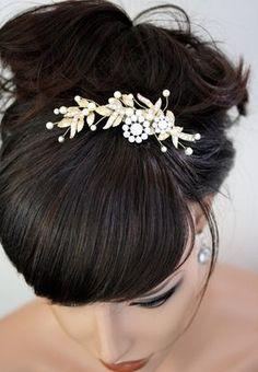 Hochzeit die Haare kämmen Swarovski Perle Haar Kamm Braut Haar