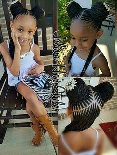 Love this hairstyle for little girls #littleblackgirlsbraids