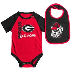 Colosseum Georgia Bulldogs Newborn & Infant Red/Black Rookie Bodysuit &…
