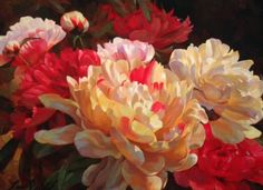June Peonies by Leon Roulette