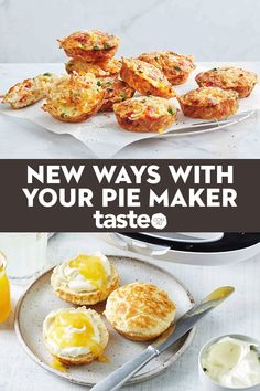 24 new ways to use your pie maker Who loves pie makers? We love pie makers! This versatile appliance is a total lifesaver when you need to cook something in a flash. Forget pies, it's all about muffins, frittatas, cakes, sausage rolls and dumplings. Mini Pie Recipes, Cooking Recipes, Healthy Recipes, Lunch Snacks, Savory Snacks, Sunbeam Pie Maker, Breville Pie Maker, Cake Pop Maker, Baking Snacks
