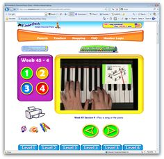 Yep that's right - Piano Lessons - At Home - Online!      From their website:      Kinderbach is about establishing a music foundation for young children.  Students learn note reading, rhythm, singing, vocabulary and a variety of other skills which provides them the basis for further education.  It's about much more than just playing the piano!