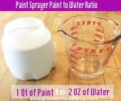 How to Use a Paint Sprayer Paint to Water Ratio