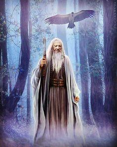Merlin, Fantasy Books, Fantasy Art, Mists Of Avalon, Legendary Creature, High Priest, Asatru, Great Father, Magical Creatures