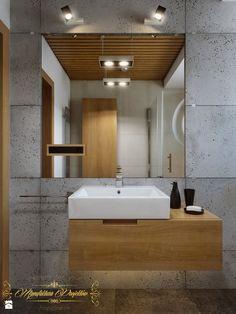 Beton architektoniczny w łazience - Łazienka, styl nowoczesny - zdjęcie od Manufaktura Projektów