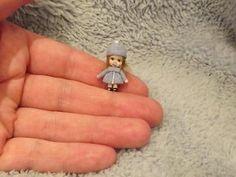 Miniature handmade MINI TINY TOY GIRL DOLLY ooak DOLLSHOUSE ART DOLL ARTISAN