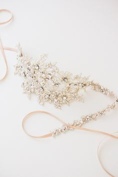 LORETTA | beaded bridal headpiece