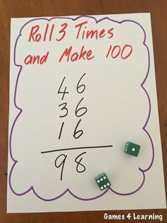 This is totally my kind of math game! Variations included for high engagement and differentiation. Great ideas to send home for family practice!