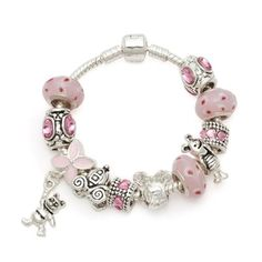 Beautiful new Silver kid European charm bead bracelet FREE SHIPPING