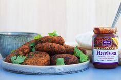 Pita med falafler med tahindressing