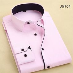 New Arrival Mens Turn-Down Collar Formal Shirts Men Long Sleeve Slim Fit Casual Shirt Mens Solid Color/Plaid Dress Shirts Slim Fit Casual Shirts, Formal Shirts For Men, Slim Fit Dress Shirts, Men Casual, Men Shirts, Shirt Men, Stylish Shirts, Stylish Outfits, Casual Wear