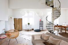 eclectic home with spiral staircase / sfgirlbybay