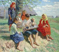 Spring Rehearsal by Nikolay Bogdanov-Belsky - WikiPaintings.org