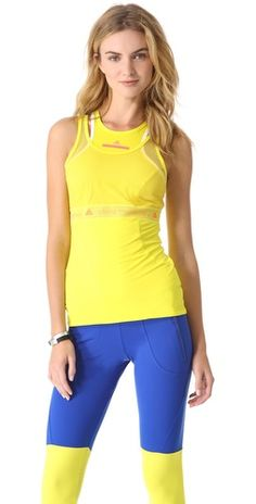Ashlees Loves: Stella McCartney worksout! info @ashleesloves.com #adidas #byStellaMcCartney #PerfTank #women's #designer #fashion #workout #apparel #style