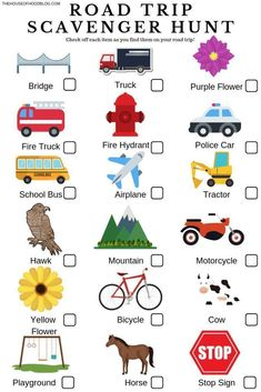 Road trip scavenger hunt printable for kids. Road Trip Packing, Road Trip Essentials, Europe Packing, Traveling Europe, Backpacking Europe, Packing Tips, Travel Packing, Road Trip Tips, Rv Travel