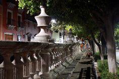 Balaustrada del Jardín de San Marcos. Barrio San Marcos. Aguascalientes, México.