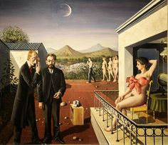 paul delvaux también me maravilla. Pero he de admitir que su ingenio está por encima de mis posibilidade como fotógrafo. I LOVE THIS PAINTING I ALWAYS SEE THIS AND LOVE IT SUCH A FASCINATING RENDERING OF OBJECTIFICATION AND DROIT DE SIGNEUR AND THE LUNAR AND THE PERCEIVED DIFFERENCES BETWEEN MALES AND FEMALES RAH RAH RAH LOVE THIS PAINTING RAH