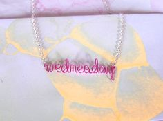 """This friendly reminder of a necklace: 