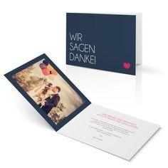 Dankeskarte Klares Ja in Ozean - Klappkarte flach #Hochzeit #Hochzeitskarten #Danksagung #Foto #modern #Typo https://www.goldbek.de/hochzeit/hochzeitskarten/danksagung/dankeskarte-klares-ja?color=ozean&design=50dec&utm_campaign=autoproducts