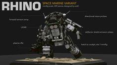 Rhino Exo-Suit, Space Marine Variant   Flickr - Photo Sharing!