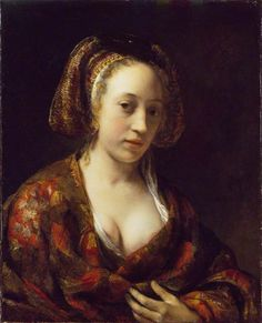 Young Woman in a Brocade Gown, Willem Drost