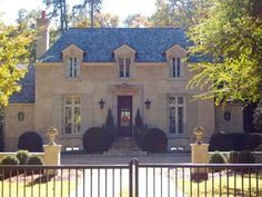 french country home by Stan Dixon Stucco Colors, Exterior House Colors, French Exterior, Interior And Exterior, French Country House, Country Homes, French Provincial Home, Atlanta Homes, Amazing Decor