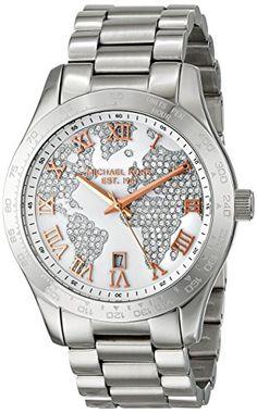 Michael Kors Layton Silver Crystal Pave Dial Stainless Streel Ladies Watch MK5958 Michael Kors http://www.amazon.com/dp/B00KBNDJ6I/ref=cm_sw_r_pi_dp_G18sub15T2MKZ