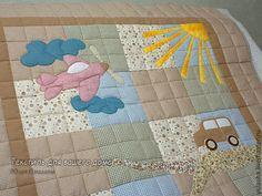 Лоскутное детское одеяло для мальчика. Одеяло пэчворк. Одеяло ручной работы для ребенка. Подарок маме и малышу малышу. Подарок новорожденному, на день рождения. Стеганое одеяло в подарок.
