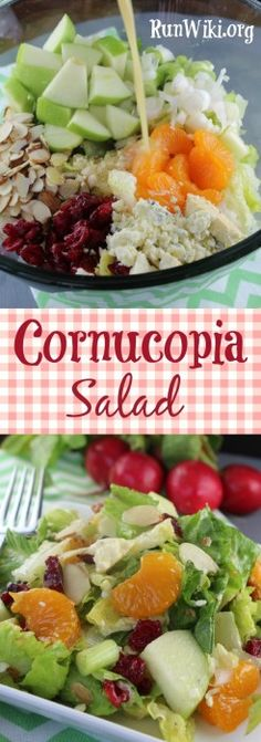 Cornucopia Salad and dressing recipe. I've served this salad at baby and bridal showers and it gone in minutes. Guests are always asking for the recipe- full of texture and flavor. Perfect for entertaining, potlucks and parties