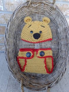 Winnie the Pooh hat Photo prop winter hat or by CrazyMomCrochet3, $20.00