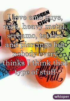 I love emo guys.... shhh don't tell